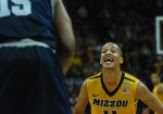"""Despite Mizzou's loss, Michael Dixon told reporters the Mizzou/Georgetown was one of the games """"you live for to play"""" growing up. (Photo by Ross Taylor)"""