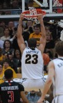Mizzou forward Justin Safford (23) throws down with authority in the second half. Safford hit half of his shot attempts and scored eight points and added a pair of rebounds and assists.