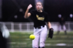 Kristin Nottleman fires a warmup pitch. (Photo by JJ Stankevitz)