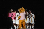 The Tigers break the huddle before the tip against Oklahoma State. Photo by Chris Spurlock.