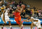 Tiffany Bias drives toward the hoop for a layup. Photo by Chris Spurlock.