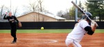 Kristen Nottelman burns a strike past WMU batter Gracie  Barstad. Nottelman struck out eight of the 20 batters she faced.