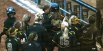 Mizzou pinch hitter Rachel Hay (00) hit her first home run of the year to push Mizzou's lead to 10-0 in the fifth inning.
