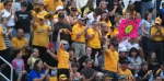 Mizzou fans showed up in record numbers and snapped the regular-season attendance record in the second game of the set against Oklahoma. Both games lasted into extra innings.  (Photo by Nick Gerhardt)