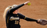 Chelsea Thomas threw a no-hitter in the last game of the tournament to beat DePaul 8-0.