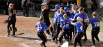 Megan Christopher walks away as the DePaul team celebrates its 2-1 victory over Mizzou on Saturday.