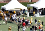 Thousands of fans came out on a hot Sunday afternoon to meet coach Gary Pinkel and members of the 2011 Missouri Tigers football team.