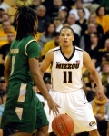 Mizzou's Michael Dixon (11) had three steals to go along with his 30 points. The Tigers moved to 11-0 with the 94-56 win.