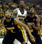 Mizzou senior forward Ricardo Ratliffe (10) tied for the team lead in points with 18 on 72 percent shooting.