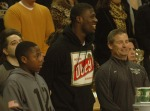 The No. 1 football recruit in the nation Dorial Green-Beckham was in attendance for Mizzou's 63-50 victory over Texas Tech. Green-Beckham was in Columbia, Mo. on Saturday, Jan. 28, 2012 for an official visit of the campus.