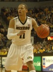 : Michael Dixon sets-up Mizzou's half-court offense. Dixon scored all nine of Mizzou's bench points Saturday, Jan. 28, 2012.