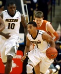 Mizzou's Phil Pressey (1) scored 18 points to go along with 10 assists and zero turnovers.