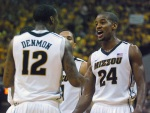 Seniors Kim English and Marcus Denmon combined for 47 of the Tigers 74 points. English and Denmon were on the last Missouri team to beat KU in 2009.