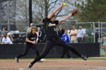 Pitcher Bailey Erwin came in to relieve Chelsea Thomas in the sixth inning of game one Sunday.