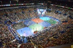 The Scottrade Center in St. Louis is packed on the morning of Friday, March 16, 2012 for the NCAA wrestling tournament.