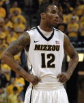 Senior Marcus Denmon waits as Mizzou tries to get an inbound play to run versus Iowa State. Denmon finished the game with 14 points and seven rebounds en-route to a 78-72 over the Iowa State Cyclones.