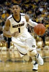 Missouri guard Phil Pressey attacks the lane. Pressey only finished with four assists for the game, but that was enough to give him the record for most assists in a single season (183).