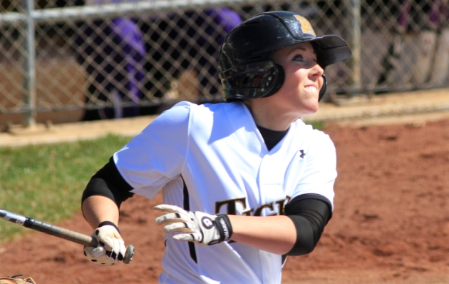 Nicole Hudson hit her second home run of the season Friday in the DeMarini Invitational.