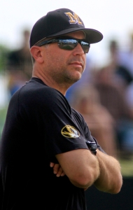 University of Missouri softball coach Ehren Earleywine on April 16, 2012.