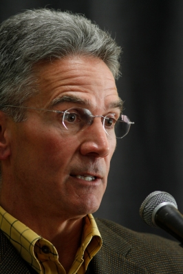 Mike Alden talks about the suspension of MU football coach Gary Pinkel on Nov. 17, 2011.