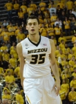 Freshman forward Stefan Jankovic retreats to play defense during the first half of Missouri's 86-60 win over Missouri Southern on Sunday, Nov. 4 at Mizzou Arena. Jankovic came off the bench to lead the Tigers with 20 points in 25 minutes of play.