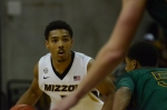 Missouri junior guard Phil Pressey (left) looks upcourt during a game against Missouri Southern on Nov. 4. Pressey logged a team-high 18 minutes on the floor, scoring two points and dishing three assists in Missouri's 86-60 win.