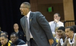 Missouri coach Frank Haith calls a play from in front of the Tigers' bench during a game on Tuesday, Nov. 13 against Alcorn State. Missouri won the game, 91-54.