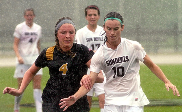 Midfielder Haley Krentz (4), shown here against Arizona State on Aug. 31, 2012, is one of the seniors Missouri loses this year.