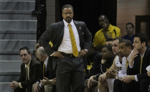 Missouri coach Frank Haith paces the sideline during the first half of Wednesday night's game against Georgia.