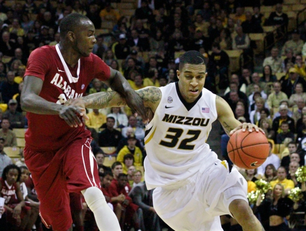 Missouri's sophomore guard Jabari Brown (32) led the Tigers with a career-high 22 points.