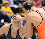 Get Out of My Face – Brent Haynes takes a hand to the eye in his match with No. 16 Blake Rosholt. Haynes held a 24-4 record entering Friday's matchup with the Cowboys.