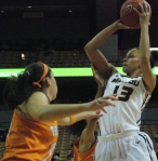 In the first half, Bri Kulas finished with eight points and four rebounds in 13 minutes of play.