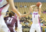 Point guard Lianna Doty (1) had six rebounds and four assists, but only managed two points. Doty was awarded Freshman of the Week for the Southeastern Conference last week.
