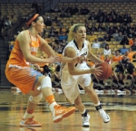 Missouri's Kyley Simmons replaced starting point guard Lianna Doty after Doty fouled out late in the second half on Feb. 3, 2013 at Mizzou Arena in Columbia.