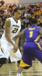 Laurence Bowers sets a pick for Phil Pressey in Saturday's win against LSU. Bowers finished with a double-double and led the Tigers with 23 points.