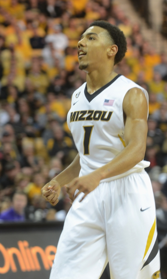 Phil Pressey looks toward the basket with a smile after making a floater in the second half of Saturday's game. Pressey shot 5-11 from the field in the win over LSU.