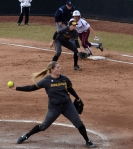 After allowing only three baserunners in her previous outing, Missouri's Chelsea Thomas allowed 10 Texas A&M hitters to reach base.  She allowed five earned runs in five hittings before being pulled.