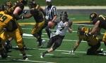 Red shirt freshman quarterback Maty Mauk (7) cuts through a hole in the line.