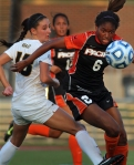 Missouri's Taylor Grant tries to get the ball from Pacific's Nicole Penick (6) in Friday's game.