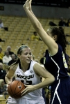 Michelle Hudyn works around an Oral Roberts defender Wednesday.