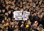 Fans came prepared with signs for Heisman Trophy winner Johnny Manziel.