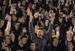 Fans cheer after L'Damian Washington's catch is ruled a touchdown.
