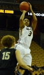 Missouri guard Bree Fowler (3) shoots the ball over Vanderbilt defender Jasmine Jenkins (15).