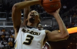 Missouri forward Johnathan Williams (3) attempts to put back a missed shot in the first half against South Carolina.