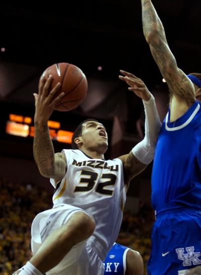 Jabari Brown (32) had a career game against Kentucky, scoring 33 points.