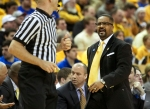 Missouri coach Frank Haith talks with an official Saturday. Haith received a technical foul in the first half.