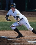 Jake Ring attempts to bunt for a hit during the third inning of Missouri's 11-5 win over Alcorn State.