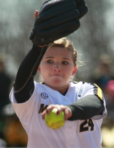 Casey Stangel pitched the five inning game against North Dakota State on Saturday. Missouri won 11-2.