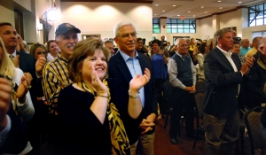 A large crowd of fans, well wishers and media turned out for the announcement at the  Reynolds Alumni Center Tuesday.