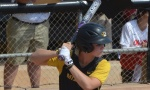 Missouri freshman designated player Natalie Fleming awaits a pitch in the Tigers' 9-1 win against Ole Miss. Fleming homered three times in the weekend series.